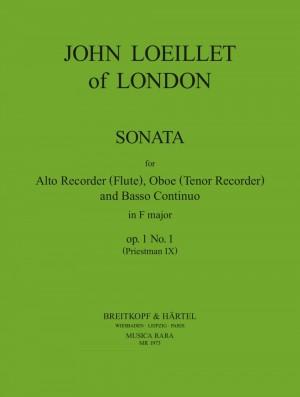 Loeillet of London: Sonate in F op. 1/1