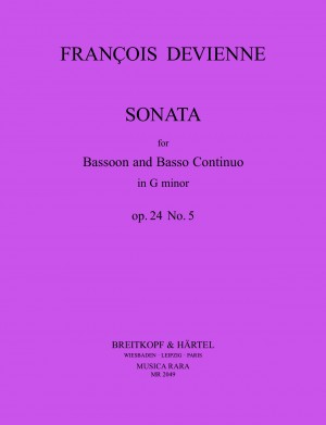 Devienne, F: Sonata in G minor Op. 24 No. 5 op. 24 Nr. 5
