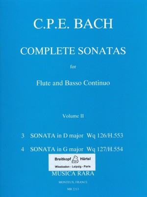 Bach, CPE: Sonaten, Band 2 Wq 126,127