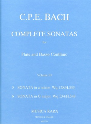 Bach, CPE: Sonaten, Band 3 Wq 128,134