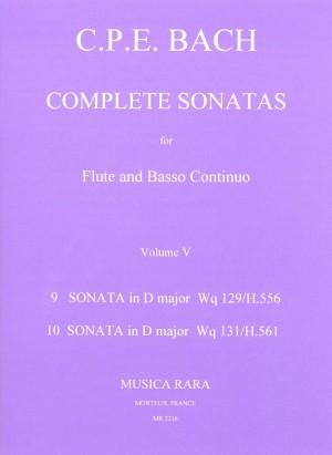 Bach, CPE: Sonaten, Band 5 Wq 129,131