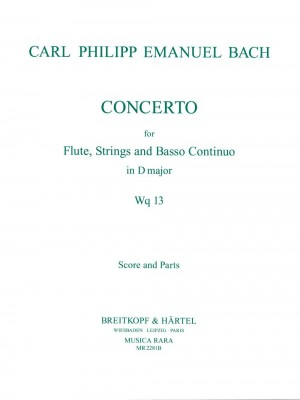 Bach, CPE: Flötenkonzert D-dur Wq 13