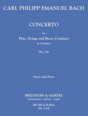 Bach, CPE: Flötenkonzert a-moll Wq 166