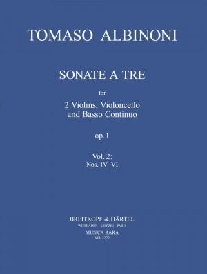 Albinoni: 3 Sonaten aus op. 1 Heft 2: Sonaten 4-6