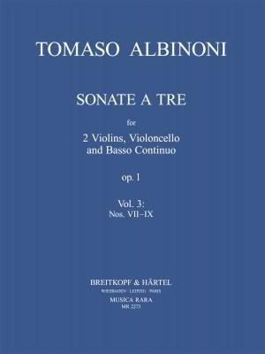 Albinoni: Sonate a 3  op. 1 Heft 3: Nr. 7-9