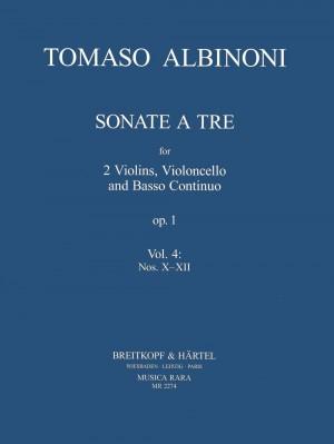 Albinoni, Tomaso: Sonate a tre op.1 Heft 4: Nr. X-XII
