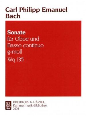 Bach, C P E: Sonata in G minor Wq 135  Wq 135