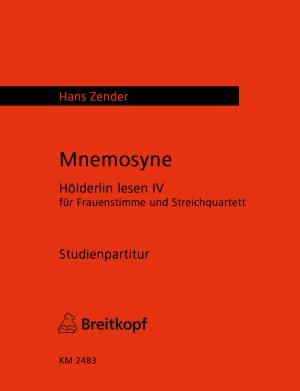 Zender: Mnemosyne - Hölderlin lesen IV