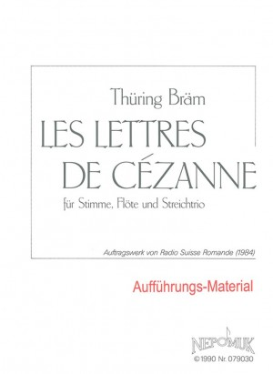 Bräm: Les Lettres de Cézanne