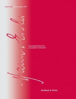 Hanns Eisler Complete Edition: Series IV (Instrumental Music) Vol. 6: Chamber Symphony