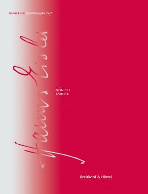Hanns Eisler Complete Edition: Series IV (Instrumental Music) Vol. 7: Nonets