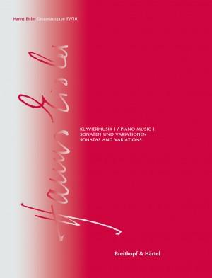 Hanns Eisler Complete Edition: Series IV, Volume 10