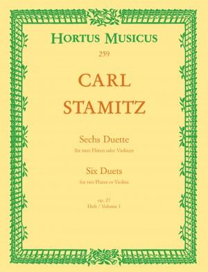 Stamitz, C: Duets (6), Op.27, Vol. 1: Nos 1 - 3