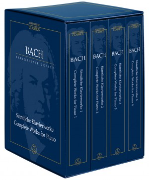Bach, JS: Complete Piano Works. 4 Volume Study Score Edition (Urtext). (includes all works for solo keyboard)