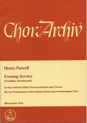 Purcell, H: Evening Service (Magnificat/Nunc dimittis) (E-G)