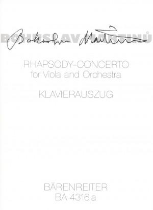 Martinu, B: Rhapsody-Concerto (1952)