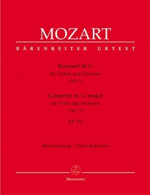 Mozart, WA: Concerto for Violin No.3 in G (K.216) (Urtext)