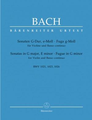 Bach, JS: Sonatas in G, E minor, Fugue in G minor (BWV 1021, 1023, 1026) (Urtext)