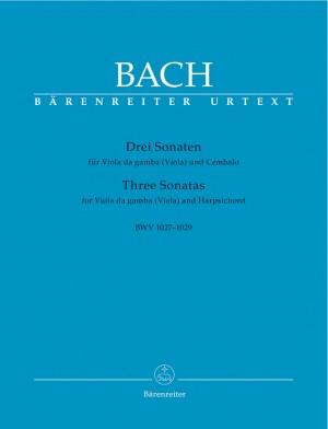 Bach, JS: Sonatas (3) (BWV 1027 - 1029) (G maj, D maj, G min) (Urtext)