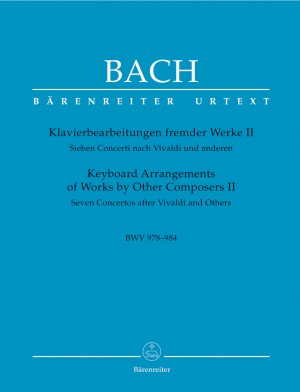 Bach, JS: Keyboard Arrangements of Works by Other Composers II (Urtext). (7 Concertos after Vivaldi & others BWV 978-984)