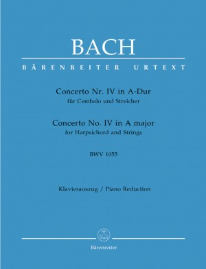 Bach, JS: Concerto for Keyboard No.4 in A (BWV 1055) (Urtext)