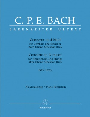 Bach, JS: Concerto for Keyboard in D minor (BWV 1052a) (Urtext). Version by C P E Bach. First Edition