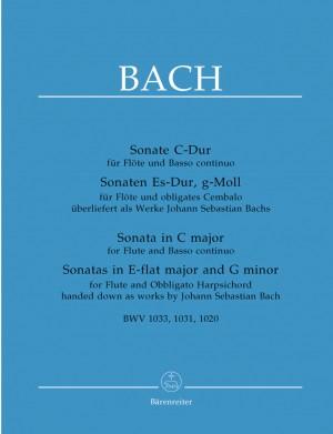 Bach, JS: Sonatas (3) (BWV 1033 C maj; BWV 1031 E-flat maj; BWV 1020 G min.) (Urtext)