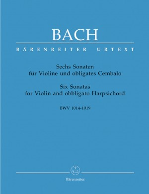 Bach, JS: Sonatas (6) for Violin and obbligato Harpsichord (BWV 1014 - 1019) Performance part. Fingerings & bowings by Andrew Manze (Urtext)
