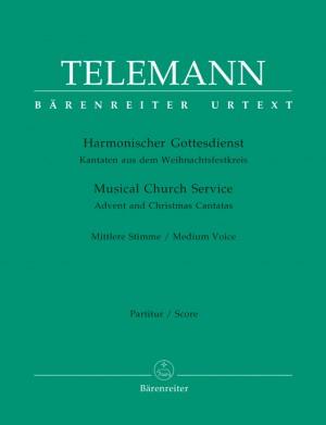 Telemann: Harmonischer Gottesdienst - Advent and Christmas Cantatas (Medium Voice)