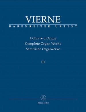 Vierne, L: Organ Works Vol. 3: Symphonie No.3, Op.28 (Urtext)