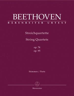 Beethoven, L van: String Quartets, Op.74 & 95 (Urtext)