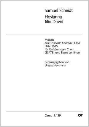 Scheidt: Hosianna filio David (dorisch)