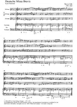 Selle: Deutsche Missa brevis