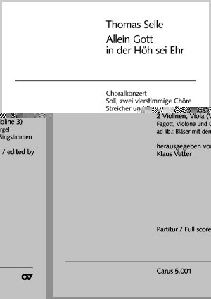Selle: Allein Gott in der Höh (G-Dur)