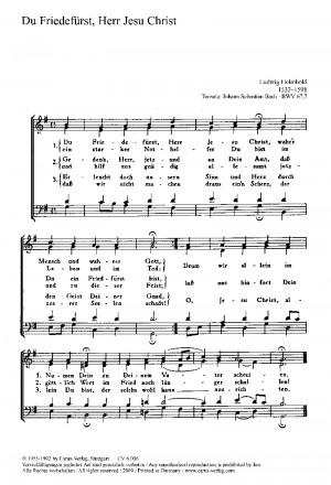 Bach; Gesius: Du Friedefürst