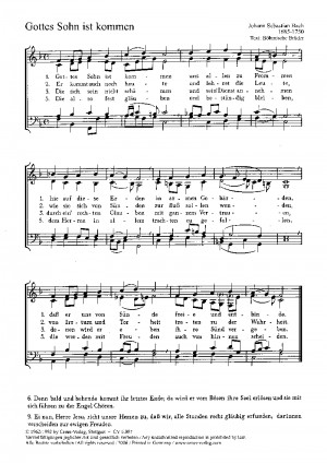 Bach, JS: Gottes Sohn ist kommen; Gesius: Nun jauchzet