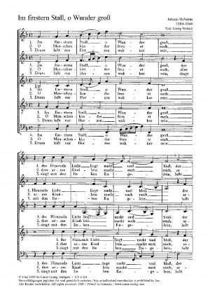 Stobaeus: Im finstern Stall, o Wunder groß (dorisch)