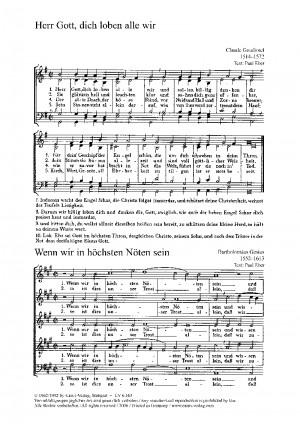 Gesius: Wenn wir in höchsten Nöten; Goudimel: Herr Gott, dich loben