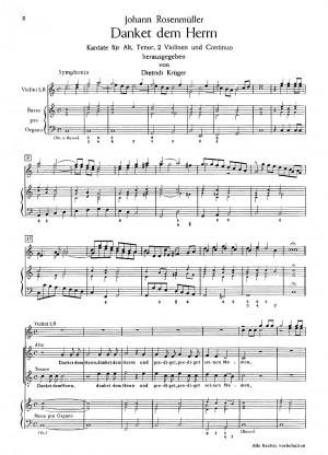 Rosenmüller: Danket dem Herrn und prediget (C-Dur)