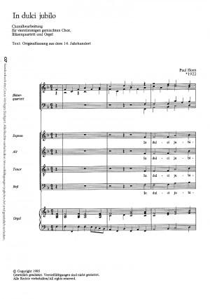 Horn: In dulci jubilo (F-Dur)