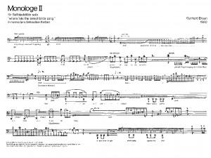Braun: Monologe II
