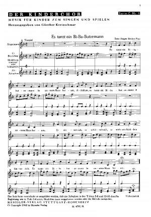 Becker-Foss: Sechs Chorsätze für Kinderchor von Becker-Foss, Kretzschmar und Ochs