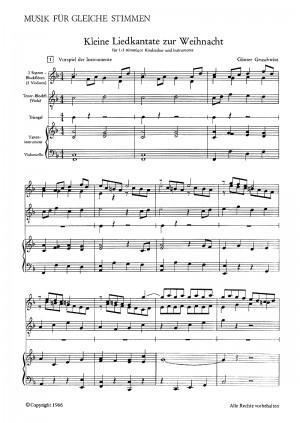 Gruschwitz: Kleine Liedkantate zur Weihnacht