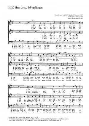 Baudach: Hilf, Herr Jesu, laß gelingen