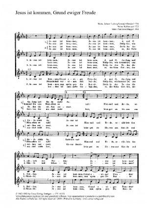 Ruppel: Jesus ist kommen, Grund ewiger Freude (Es-Dur)