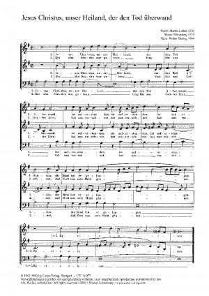 Hennig: Jesus Christus, unser Heiland; Stegen: Erstanden ist