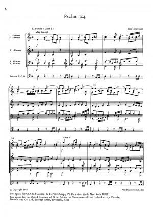 Schweizer: Psalm 104