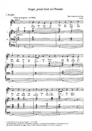 Schilling: Singet, preiset Gott mit Freuden
