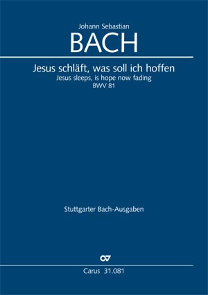 Bach, JS: Jesus schläft, was soll ich hoffen (BWV 81; e-Moll)