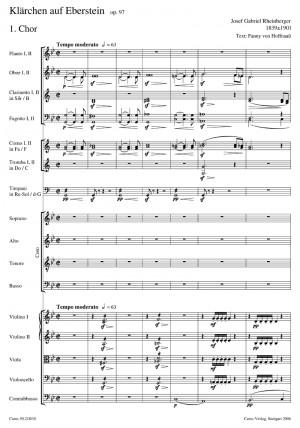 Rheinberger: Chorballaden IIIa (Gesamtausgabe, Bd. 18a)